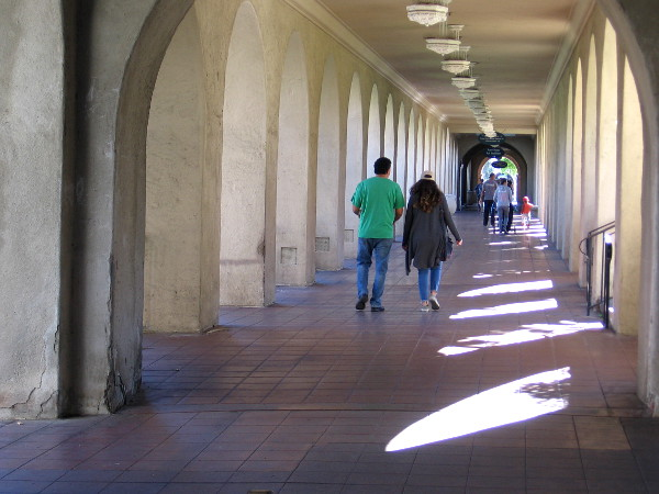 It seems people are wearing green for St. Patrick's Day all over Balboa Park!