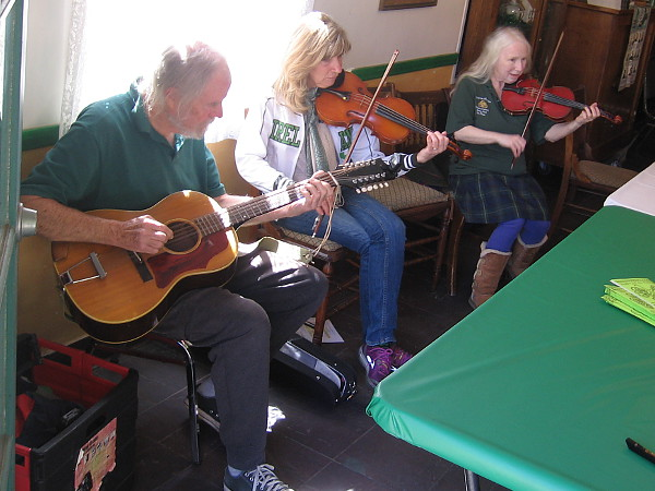 Sprightly traditional Irish music could be enjoyed inside the House of Ireland during St. Patrick's Day in Balboa Park!